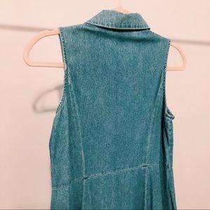 Chadwicks Dresses - Vintage Chadwick's Denim Button-Down Dress